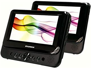 SYLVANIA 7in DUAL SCREEN PORTABLE DVD (Renewed)