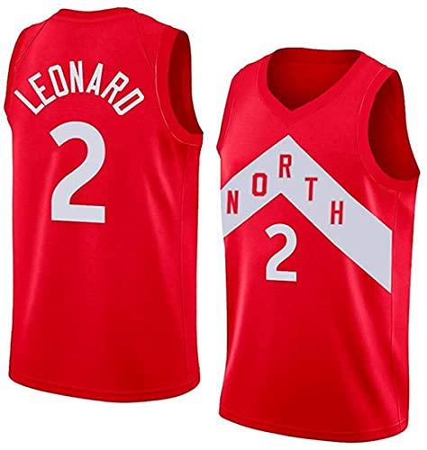 XSJY Jersey Men's NBA # 2 Kawhi Leonard Vintage All-Star Jersey, Tejido Fresco Y Transpirable, Uniforme De Baloncesto Uniforme,B,XXL:185~190cm/95~110kg