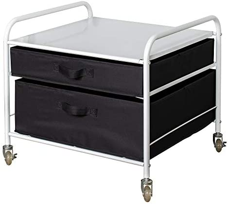 The Fridge Stand Supreme Drawer Organization White Frame with Black Drawers product image