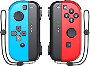 $56 » KDD Joy-Pad Controller Compatable with Nintendo Switch (L/R) Joy Controller Replacement - Neon Red/Neon Blue