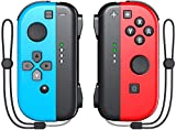 KDD Joy Controller Compatible Witch Nintendo Switch, Switch Controller Joycon Replacement Support Wake-up Fuction Red/Blue