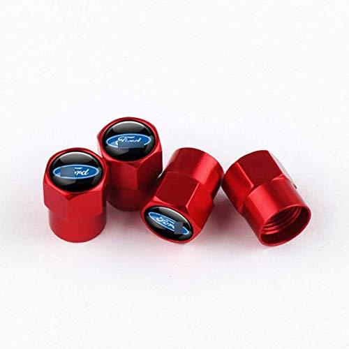 4 Piezas Coche Tapas para Válvulas, para Ford Focus 2 3 4 5 Mk2 Mk3 Mk4 Mk5 Ranger Neumático Automóvil Tapones Válvula Tapones Neumatico