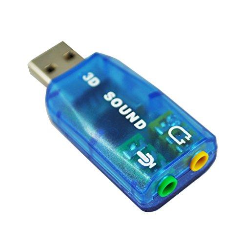 SODIAL(TM) Virtual 5.1-USB 2.0 Tarjeta de Sonido Externa