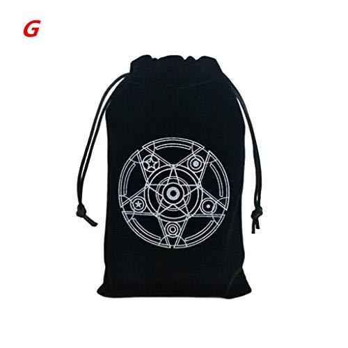 Dalin Altar-Tarot-Stoff, Pentagramm, Tarot-Spiel, Tischdecke, Brettspiel, Samtbeutel