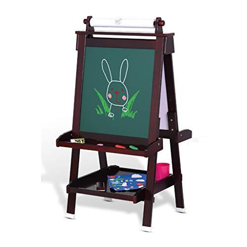 Kinderen massief hout tekenbord liftable ezel dubbelzijdig magnetische kleine schoolbord beugel type schrijfbord (verzend 8 soorten prachtige kleine geschenken)