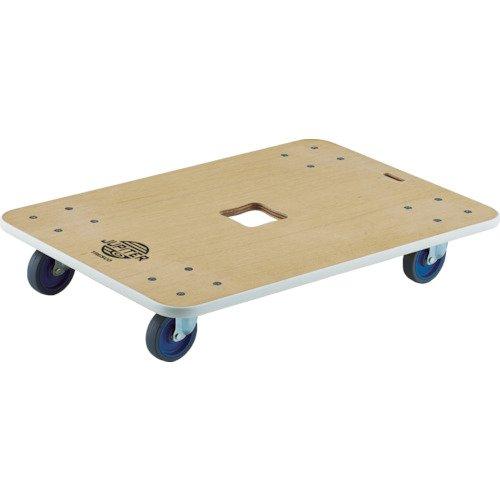 TRUSCO(トラスコ) 木製平台車 ジュピター 800×550 Φ100 300kg JUP-800-300