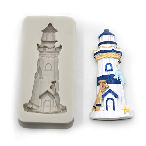 GMTEXTILES Kuchen Bordüre Dekoration Silikonform Leuchtturm Form Kuchenform Schokolade Ton Weiche Keramikform