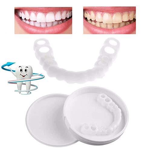 Provisorischer Zahnersatz, Sofortig Furniere Extra Dünn Kosmetische Zähne Sicherer Ober und Unterkiefer Eine Grösse passt allen für Männer und Frauen, 2 Paar