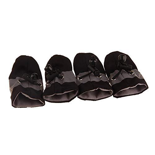 Airva 4 Stück/Set Haustier Hunde Winterschuhe Regen Schnee Wasserdicht Stiefel Socken Gummi Anti-Rutsch-Schuhe für kleine Hunde Welpen Schuhe Cachorro