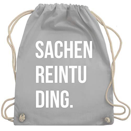 Shirtracer Festival Turnbeutel - Sachenreintuding - Unisize - Hellgrau - beutel rucksack - WM110 - Turnbeutel und Stoffbeutel aus Baumwolle