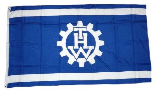Fahne / Flagge THW Technisches Hilfswerk 90 x 150 cm