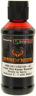 House of Kolor Apple Red Candy Basecoat Pre-Blended R-T-S 4-Oz Bottle