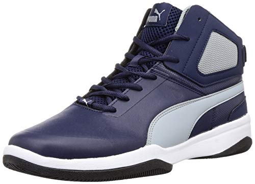 PUMA Men's Rebound BBX Mesh IDP Peacoat-Quarry White Sneakers-6 UK (39 EU) (7 US) (36971005)