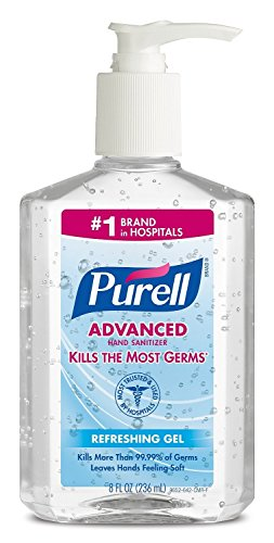 PURELL 9652 Advanced Instant Hand Sanitizer, 8 Ounce Pump Bottle (Pack of 4)