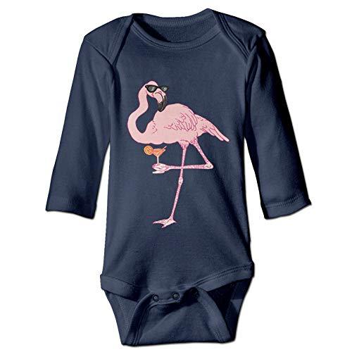 Mark Stars Baby-Strampler mit Sonnenbrille, Flamingo-Logo, langärmelig, 6 Monate,...
