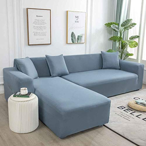 ZHICHENG Sofa Throws Sofa Cover Elastic Stretch Waterproof Sofa Cover for L-Shape Set of 2 (Color : 4, Size : AA/BB=(145-185CM)/(145-185CM))
