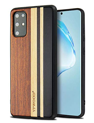 YFWOOD Case for Samsung Galaxy S20 Plus,Wood Case Compatible with 6.7 inch S20 Plus 5G, Wooden Shockproof Drop Proof Bumper Protection Cover