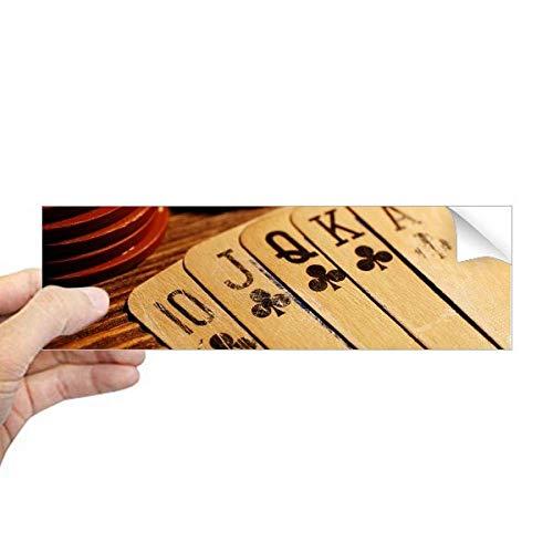 DIYthinker Old Poker Chip Foto Rechteck Bumper Sticker Notebook Window Decal