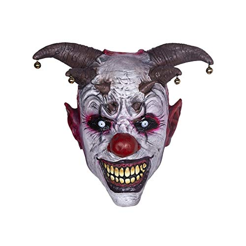 Huoqilin clown-kop van latex, Halloween masker