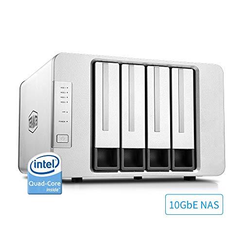 TerraMaster F4-422 10GbE NAS 4-Bay Netzwerkspeicher-Server Intel Quad-Core-CPU mit Hardware-Verschlüsselung (Ohne Festplatte)