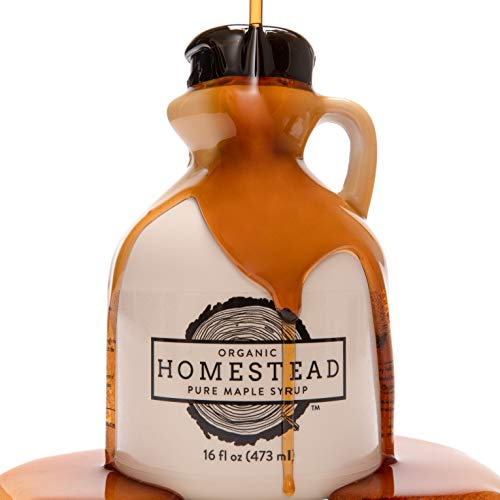 Homestead Organic Maple Syrup, Pure USDA Organic, 16-Ounce