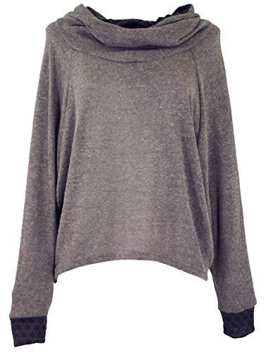 Guru-Shop Hoody, Sweatshirt, Pullover, Kapuzenpullover, Damen, Braun, Baumwolle, Size:S/M (38), Pullover, Longsleeves & Sweatshirts Alternative Bekleidung