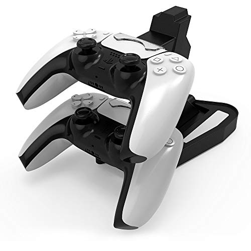 Photo of Jingmoyouxi Dual USB Charging Charger Docking Station Stand for Sony Playstation 5 PS5 Controller, PS5 Digital Edition,Black