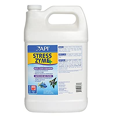 API STRESS ZYME Freshwater and Saltwater Aquarium Cleaning Solution 3.78-Litre Bottle by API