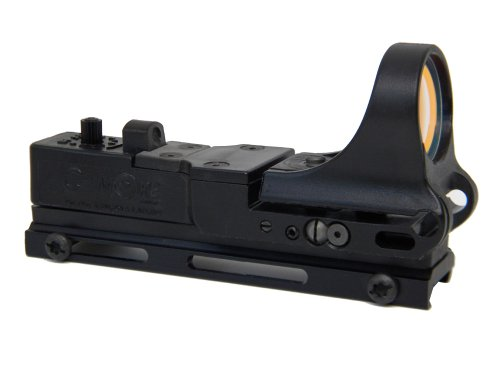 C-MORE Systems Tactical Railway Red Dot Sight with Standard Switch, Black, 8 MOA