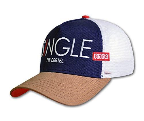 COASTAL - Single Fin (navy/cognac) - High Fitted Trucker Cap