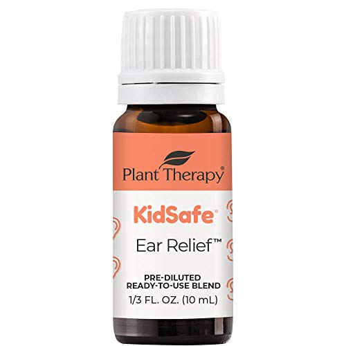 Plant Therapy KidSafe Ear Relief Essential Oil Blend Pre-Diluted 10 mL (1/3 oz) 100% Pure,...