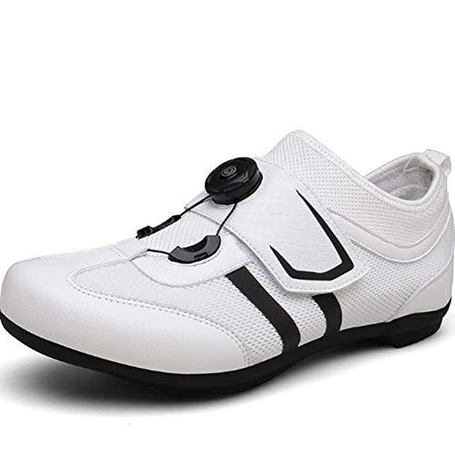 AIFXZ Zapatillas de Ciclismo Pro Self-Locking Transpirables Zapatillas de Bicicleta de Carretera...