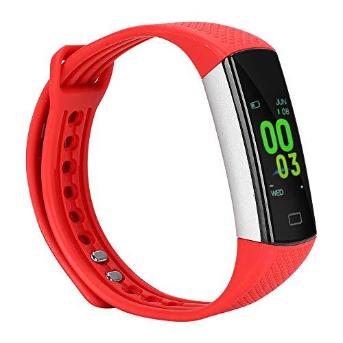 Cloudbox Pulsera inteligente Pantalla táctil Deportes Pulsera inteligente Silicona Muñeca Reloj Monitor de frecuencia cardíaca TLWB6 (rojo)
