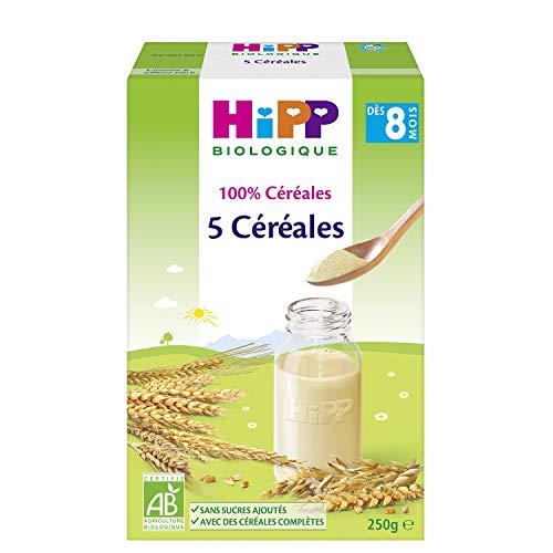 Hipp Biologique 100% Céréales 5 Céréales - 6 boîtes de 250 g