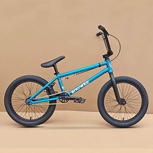 ZZD Vélo BMX pour Enfants de 18 Pouces, adapté aux débutants, Conception de Frein en Forme de U, Cadre en Acier chromé-molybdène Haute résistance à Haute résistance, engrenage BMX 25x9t