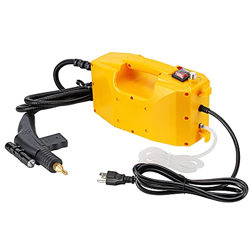 CGOLDENWALL Portable Steam Cleaner High Temperature Steamer Cleaning Machine 1700W Powerful Steam Tool Upgraded No Built-in Water Tank Design (110V, Yellow)