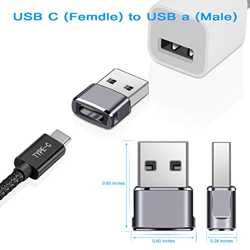 Elebase USB C Female to USB Male Adapter (2 Pack),Type C to USB A Connector,Works for iPhone 11 Pro Max   ,Airpods iPad 2018,Samsung Galaxy Note 10 S20 Plus 20 S20+ 20+ Ultra,Google Pixel 4 4a 3 3A 2 XL