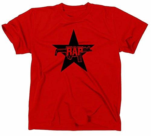 Rap Logo T-Shirt, L, red