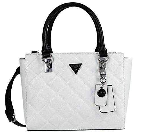 GUESS Ariella Society Satchel White One Size