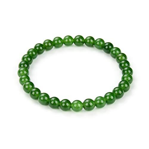 Natural Green Jade Gemstone Bracelet 7.5 Inch Stretchy Bracelet Chakra Gems Stones Healing Crystal Energy Quartz Rocks GB6-B54
