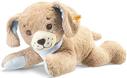 Steiff Gute-Nacht-Hund - 48 cm - Plüschhund- Kuscheltier für Babys - weich & waschbar - beige (239724)