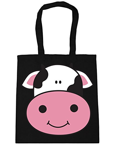 HippoWarehouse Cow Tote Shopping Gym Beach Bag 42cm x38cm, 10 litres