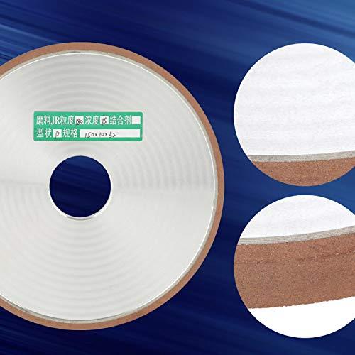 Herramienta de pulido Muela abrasiva de diamante de grano 180 para aleaciones Cuchillos, hojas de sierra, proceso de pulido dentado para pulido de procesamiento de carburo 150 * 32 * 10 mm