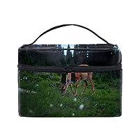 鹿メイクボックス コスメ収納 トラベルバッグ 化粧 バッグ 高品質
