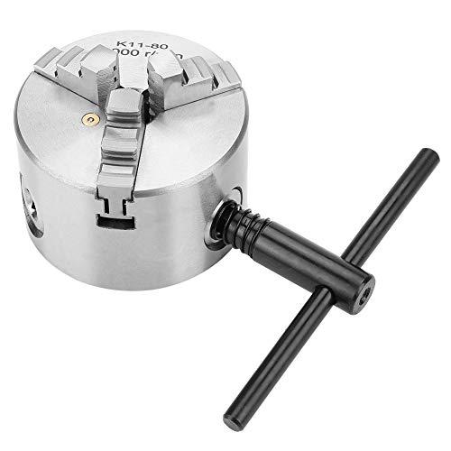 Conjunto de mandril autocentrante de 3 mordazas, 3 pulgadas K11-80 Mandril de torno autocentrante de 3 mordazas 80 mm de diámetro