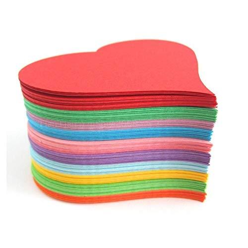 Liebeskartenpapier/Kunst herzförmiges farbiges Papier/dickes handgeschöpftes Papier/multifunktional-12 * 13 cm 100 Stk