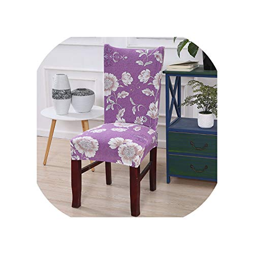 Kabby Red Kitchen Chair Cover Stretch Seat Covers Chair Dining Room Blue House slipcover Chair Covers Spandex 1/2/4/6 pcs,Color 2,2 pcs Chair Covers
