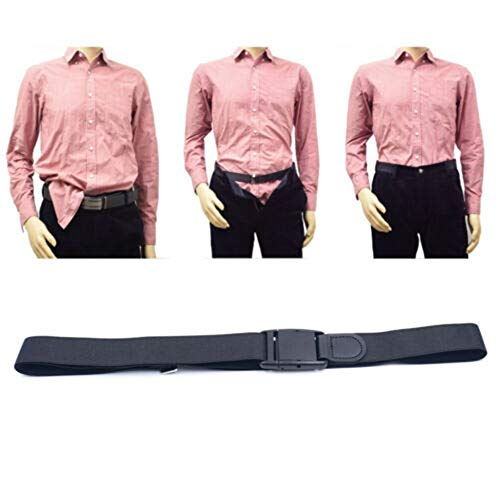 Absir 2.5x110cm Double Side Nonslip Shirt Holder Belt with Elastic Band