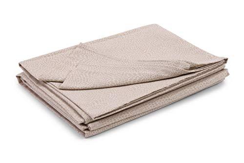 HomeLife Colcha para cama de matrimonio primaveral, de piqué [260 x 280 cm], fabricada en Italia, para cama de matrimonio, algodón ligero, estampado con efecto micromoteado, 2 plazas, color beige