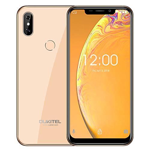 Günstige Smartphone,OUKITEL C13 Pro Handy Ohne Vertrag 6.18 Zoll Android 9.0 3300mAh Akku 16GB Interner Speicher Dual Kameras 4G Dual SIM Smartphone,Gold